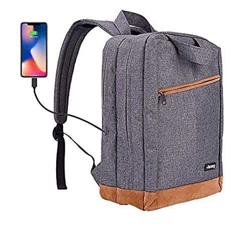 Aoneng - Mochila para Ordenador portátil, con Ventana de Carga USB, Compatible con portátiles