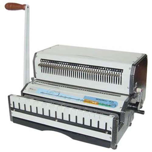 Akiles WireMac-E21 14'' Electric Punch Manual Wire Binding Machine 2:1 Pitch by Akiles