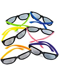 Child Neon Sunglasses, 6 assorted colors, Sold as package of 12.