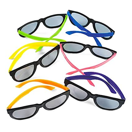 cf578ad397 Image Unavailable. Image not available for. Color  Fun Express Child Neon  Sunglasses ...