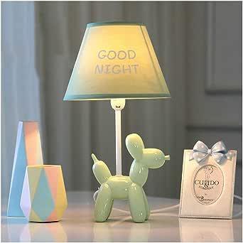 Perro de globo LED lámpara de mesa dormitorio lámpara de noche creativo romántico verde cálido: Amazon.es: Iluminación