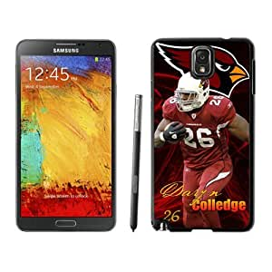 WOWCASE Arizona Cardinals Chris Wells NFL Rugged Case for Samsung Galaxy Note 3, NFL Samsung Note 3 case-Christmas Gift
