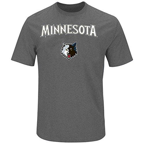 - NBA Minnesota Timberwolves Children Unisex NBA Youth Short Sleeve Heather Screen,L,Blue/Heather