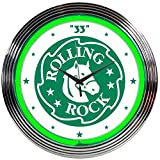 Neonetics Rolling Rock Beer Neon Wall Clock, 15-Inch