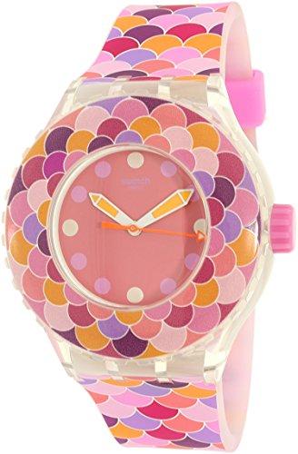 Swatch Women's Scuba SUUK111 Pink Silicone Swiss Quartz Watch ()