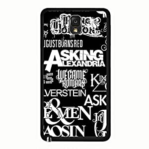 Cool Fun FunkY Funny Asking Alexandria Phone Case Cover for Samsung Galaxy Note 3 N9005 Asking Alexandria Unique Custom