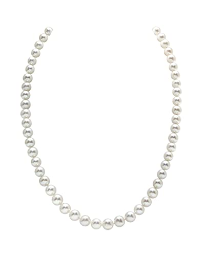 e34c91106 THE PEARL SOURCE 14K Gold 6.5-7.0mm AAA Quality Round White Freshwater  Cultured Pearl