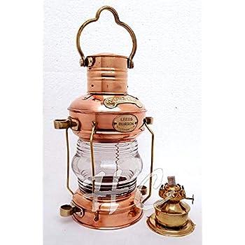"Nautical Brass Copper Ship Lantern~Marine Anchor Lamp~Maritime Boat Light~13.5/"""