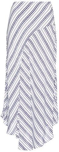 FIND Falda Asimétrica de Rayas para Mujer Azul (Blue/white)