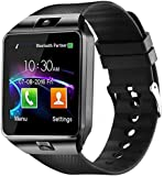 Faawn Smart Watch with Bluetooth Camera Sim Card 4G Supported, Health Fitness Tracker Smart Watches for Mens Boys and Girls : Black