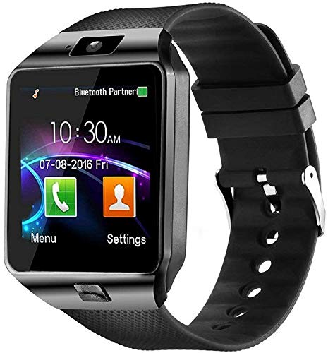 Faawn Smart Watches with Bluetooth, Sim Card (4G Supported ) Health and Fitness Tracker Smart Watches for Boys Mens and Girls ( smartwatch ) – Black