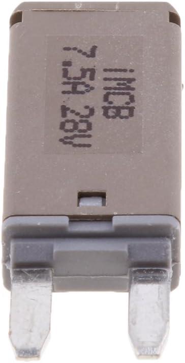 1 St/ück Auto ATM Mini Sicherung Flachsicherung Manuelle Reset Circuit Breaker Fuse Schutzschalter 10A
