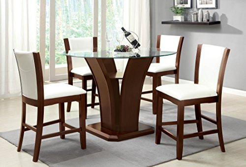 247SHOPATHOME IDF-3710WH-PT-5PC Dining-Room-Sets White