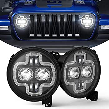 Amazon.com: 7inch Jeep LED Headlights V Halo DRL Turn ...