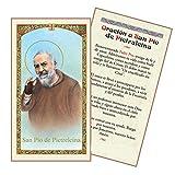 Oracion a San Padre PIO De Pietrelcina Tarjeta