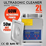 OrangeA Ultrasonic Cleaner Ultrasonic Cleaner Solution Heated Ultrasonic Cleaner 2L for Jewelry Watch Cleaning Industry Heated Heater Commercial Grade (2 Liter)