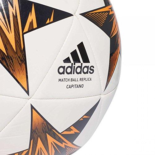 adidas Finale Kiev Balón de Fútbol, Hombre White/Black/Trace Olive/Core Black/Bright Orange