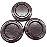 Sound harbor PA-20 Hardwood Material ,Brown Color Piano Caster Cups, Grand Piano Caster Pads, Piano Leg Pad Size 5.0x4.0x3.0 inch (set of 3)