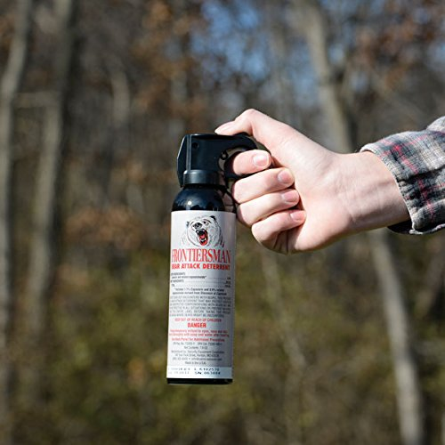 Sabre Frontiersman Bear Spray 7.9 oz Holster Options Multi-Pack Options Maximum Strength, Maximum Range Greatest Protective Barrier Per Burst Effective Against All Types of Bears