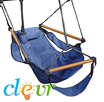 new deluxe hammock hanging patio tree sky swing chair outdoor porch lounge amazon     new deluxe hammock hanging patio tree sky swing chair      rh   amazon