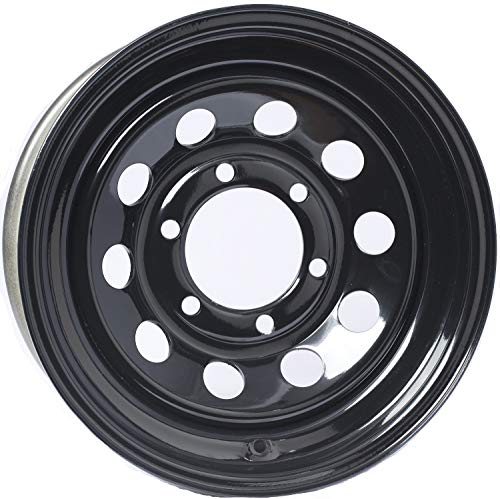 2-Pack Trailer Rim Wheel 15X6 Black Modular 2830 Lb. 4.27 Center Bore 6 Lug
