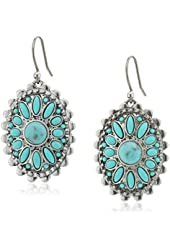 Lucky Brand Turquoise and Silver Drop Earrings