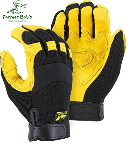 2150DP Majestic Golden Eagle Reinforced Mechanic Gloves Large Farmer Bob
