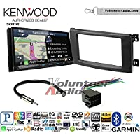 Volunteer Audio Kenwood DNX874S Double Din Radio Install Kit with GPS Navigation Apple CarPlay Android Auto Fits 2008-2010 Smart Fortwo