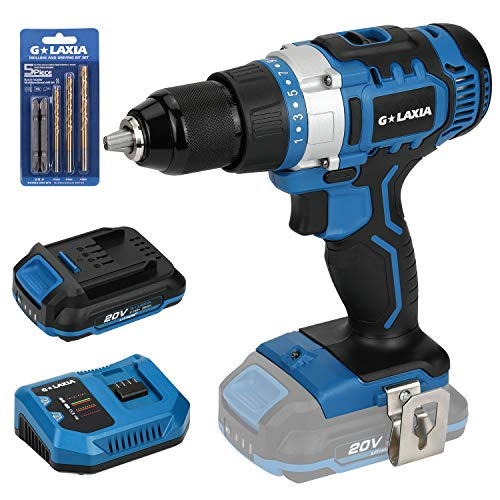 GALAXIA 2-Speed Cordless Drill Driver - Includes Lithium Ion Battery, 21+1 Clutch, 1/2-inch Metal Keyless Chuck, Max Torque (50N.m), Built-in LED Light for Home Improvement & DIY Project