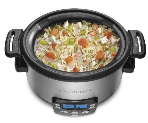 Cuisinart MSC-400 3-In-1 Cook Central 4-Quart Multi-Cooker: Slow Cooker, Brown/Saute, Steamer