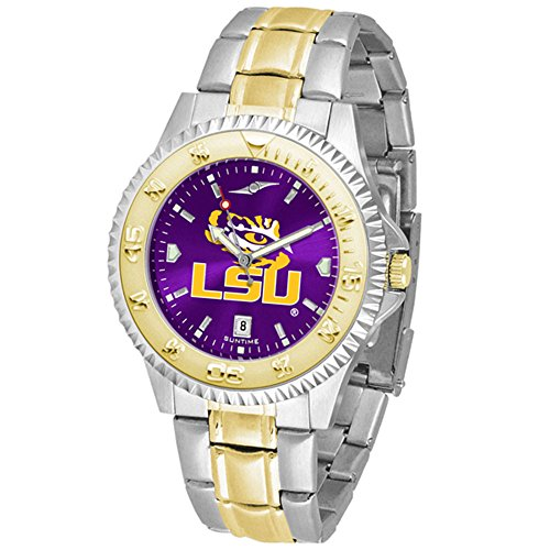 LSU Tigers Competitor Two-Tone AnoChrome Men's Watch (Competitor Steel Tigers Watch)