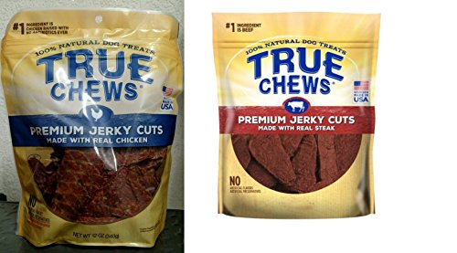 True Chews Jerky Fillet for Dogs, 2-12oz CHICKEN AND STEAK For Sale