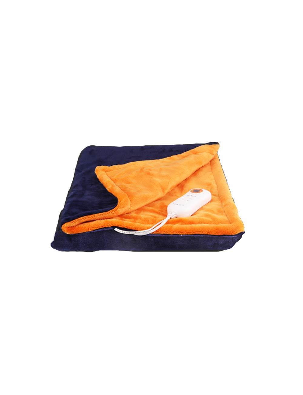 電気毛布シングル、多目的ウォームアップブランケット、温度設定の9種類、暖かく、癒し、操作しやすい、安全な洗える、ブルーオレンジ、ピンクグレイのドット、150 * 80センチメートル (色 : Orange blue, サイズ さいず : 150 * 80cm) B07JW9YF9G Orange blue 150*80cm
