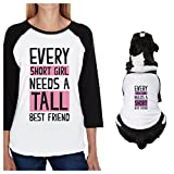 Best 365 Printing Friend Matching Gifts - Tall Short Friend Small Dog and Owner Matching Review