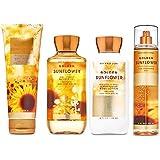 Bath and Body Works GOLDEN SUNFLOWER - Deluxe Gift Set Body Lotion - Body Cream - Fragrance Mist and Shower Gel - Full…