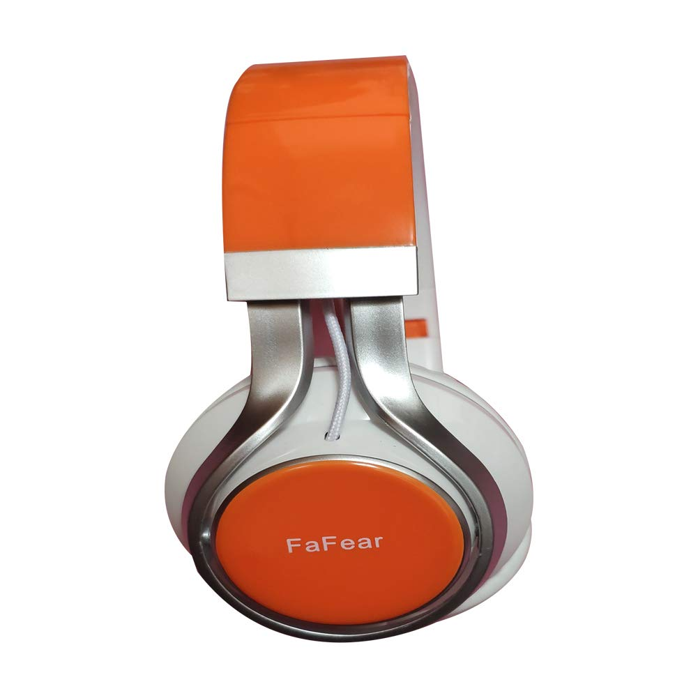 FaFear Bluetooth Over-Ear Headphones, Foldable Wireless and Wired Stereo Headset FM for Cell Phone,PC,Soft Earmuffs &Light Weight