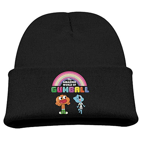Babala The Amazing World Of Gumball Rainbow Boys And Girls Knitted Beanie Cap Hat Skull Cap Hat Black (Shopkins Juicer compare prices)
