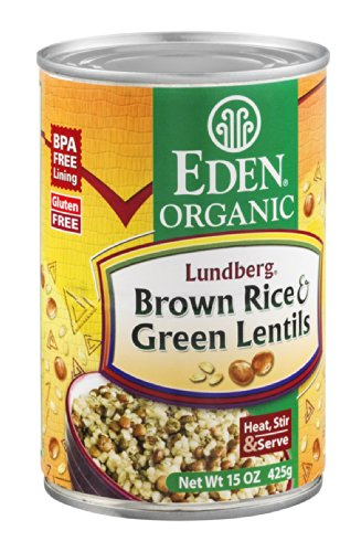 Eden Organic Brown Rice & Green Lentils, 15-Ounce Cans (Pack of 12) ( Value Bulk Multi-pack) by Eden