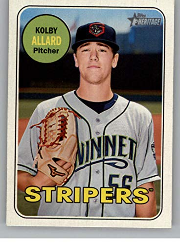 710a9d4f Amazon.com: 2018 Topps Heritage Minors #156 Kolby Allard Gwinnett Stripers  RC Rookie MLB Baseball Trading Card: Collectibles & Fine Art
