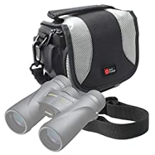 Portable Carry Case With Padded Interior And Shoulder Strap for Nikon Monarch 5 10x42 | 5 12x42 | 5 8x42 | 7 10x30 | 7 10x42 | 7 8x30 | 7 8x42 Binoculars - by DURAGADGET