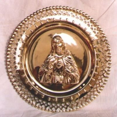 India Overseas Trading Corporation BR3602 - Brass Jesus Wall Tray
