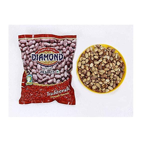 Diamond Roasted Peanuts - Vaccum Pack of 4, 200 GMS Each