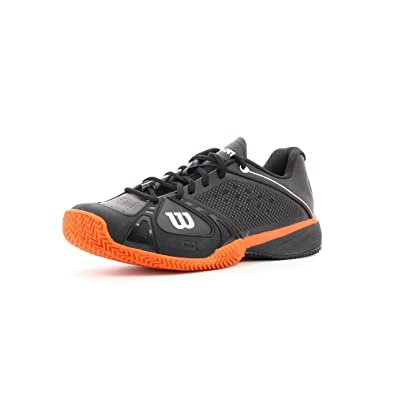 Wilson - Zapatillas pádel m rush pro clay, talla 46, color negro ...