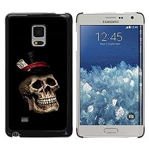 Shell-Star Arte & diseño plástico duro Fundas Cover Cubre Hard Case Cover para Samsung Galaxy Mega 5.8 / i9150 / i9152 ( Gentleman Skull Top Hat )