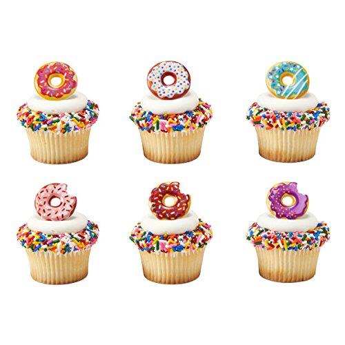 Donut Cupcake Rings - 24 pcs