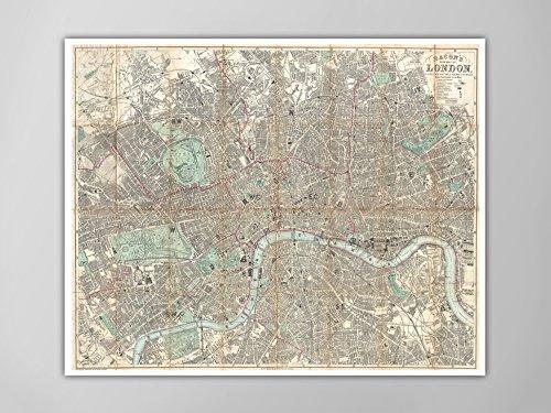 1890 Antique Map - 2