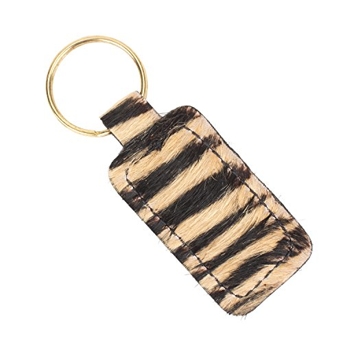 Furry Animal Print Keychain Genuine Leather (Tiger Print) Tigers Leather Money Clip