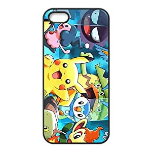 Lovely Pokemon happy Pikachu Cell Phone Case for Iphone 5s