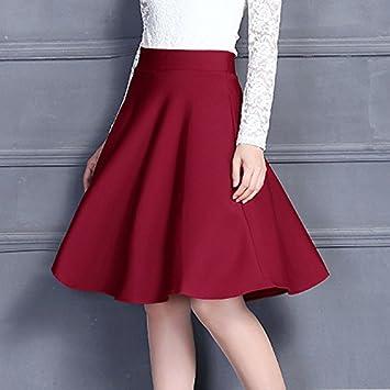 XiaoGao Una Falda Larga en el periodo de Primavera y otoño,XL Rojo ...