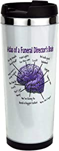 Atlas Of A Funeral Directors Brain Stainless Steel Travel Mug, Insulated 14 oz. Coffee Tumbler